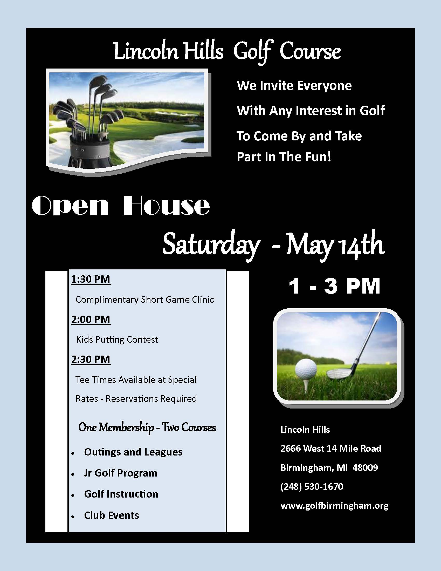 Open House Event  @ Lincoln Hills Golf Course | Birmingham | Michigan | United States